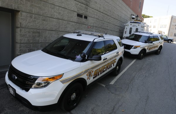 Two of the department's newly acquired Ford SUVs are seen parked behind the county jail Monday, Aug. 27, 2012. The Penobscot County Sheriff's Office is transitioning from Ford Crown Victoria cruisers to the SUVs. One reason for the change is the need for extra space to accommodate the large amount of equipment they must have with them. The fuel economy has also improved in recent years, according to Sheriff Ross.