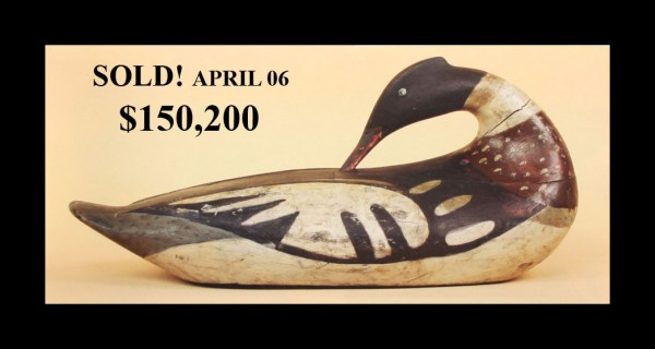 A preening red-breasted merganser by Gus Wilson. It sold at auction for $150,200.