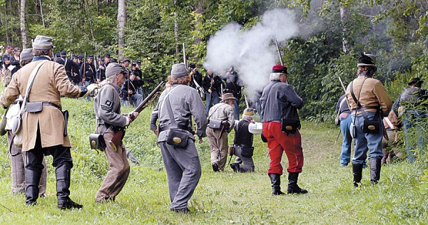 "Confederate and Union re-enactors will participate in the Aug. 25-26 ""We Are Coming, Father Abraham"" encampment at the Good Will Hinckley School on Route 201 in Fairfield. The two-day encampment, the largest such event slated for Maine this year, will feature daily battles and skirmishes, a civilian town, and lectures by authors of Civil War-related books."