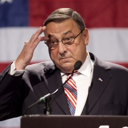 With threat, LePage raises stakes for Republican convention