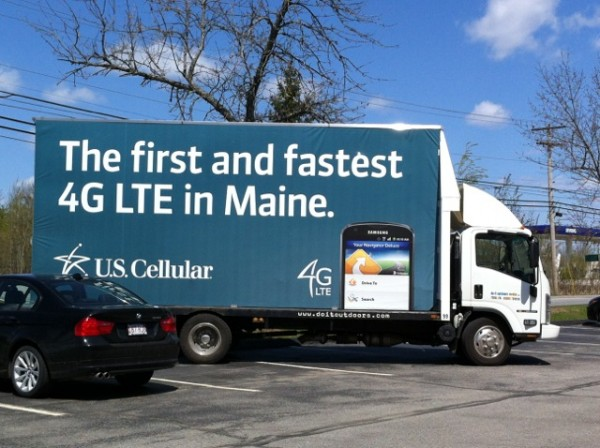 Mobile billboard trucks such as these are illegal in Maine due to a 35-year-old law outlawing billboards in the state. Buses and transport trucks or 18-wheelers hauling products or freight are exempted from the law because they are considered &quotcarriers.&quot