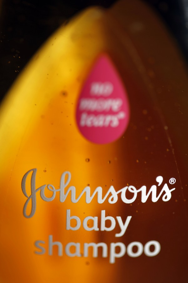 An April 19, 2010 file photo shows a bottle of Johnson & Johnson's baby shampoo in Philadelphia. Johnson & Johnson said Tuesday Aug. 14, 2012 that it remains on track to have baby products, including its Johnson's No More Tears baby shampoo, reformulated with safer ingredients by the end of 2013.