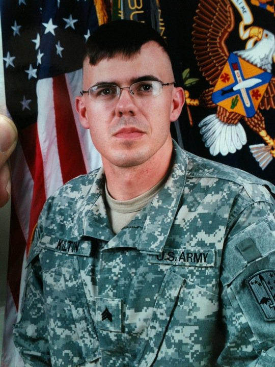 U.S. Army Sgt. Casey Kilton of East Machias says his emergency leave to attend his grandmother's funeral service has been canceled after a midnight raid on his home in Germany by police and bomb squad personnel.
