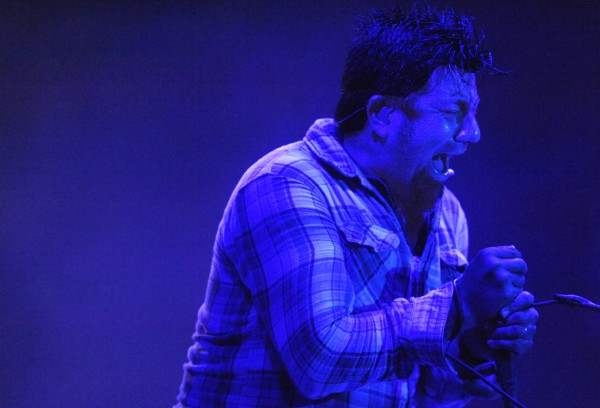 Chino Moreno, lead singer for the Deftones, was high energy Friday night, Aug. 10, 2012 at the KahBang festival on Bangor's waterfront.