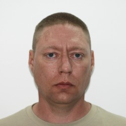 Army Sgt. John Michael Russell, in a May 11, 2009, booking photograph. Russell killed five fellow service members at the Camp Liberty Combat Stress Clinic near Baghdad, the deadliest case of soldier-on-soldier violence in the war zone.