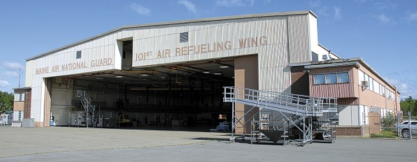 Opened in 1954, Building 496 at the Bangor Air National Guard Base has been the primarily hangar for the Maine Aur Guard for 58 years. The hangar was remodeled in the 1970s to accommodate KC-135E Stratotankers.