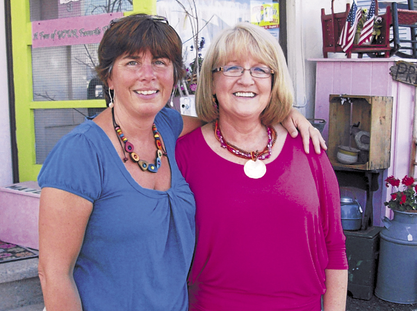 Donna Treadwell (left) and Colleen Blanchette have been &quotupcycling&quot furniture pieces for the past two years at their Serendipitous II store in Bangor.