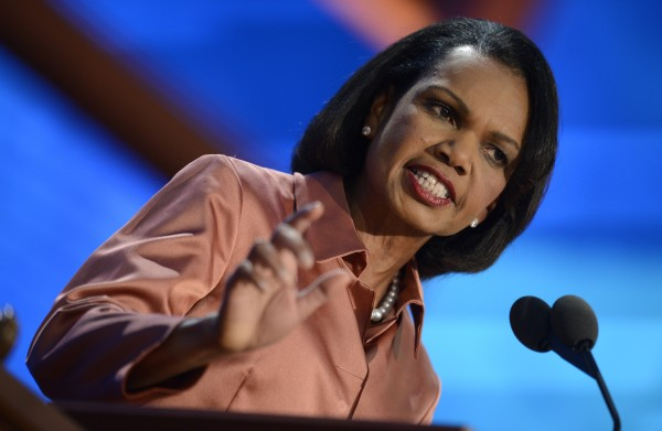 Former Secretary of State Condoleezza Rice speaks to the delegation at the Republican National Convention in Tampa, Florida, Wednesday, August 29, 2012.