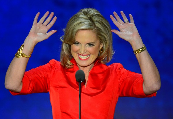 Ann Romney, wife of Republican presidential candidate Mitt Romney, speaks at the second day of the Republican National Convention in Tampa, Florida, Tuesday, August 28, 2012.