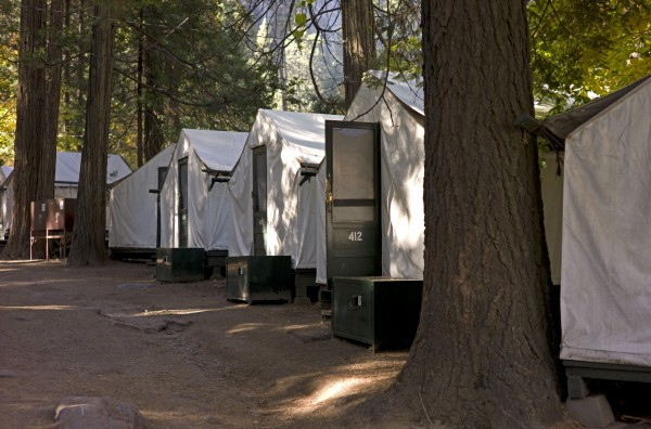 In this file photo from Sunday Oct. 23, 2011, tents are seen in Curry Village in Yosemite National Park, Calif. On Monday, Aug. 27, 2012, Yosemite officials announced a second person had died of a rare, rodent-borne disease after staying in one of Yosemite National Park's most popular lodging areas, prompting federal officials to step up efforts to locate and warn recent visitors.