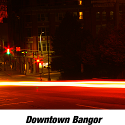 Eagles eye view, of Downtown Bangor.  Well maybe an AMC Eagle.  This exposure was captured by Steven Broschat of Maine Brain Media LLC in Bangor.
