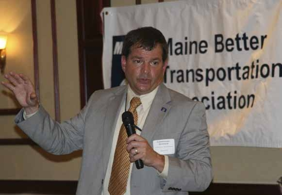 Maine Department of Transportation Commissioner David Bernhardt served as the guest speaker for the Maine Better Transportation Association meeting held Aug. 2, 2012, in Presque Isle. Bernhardt provided updates on the Presque Isle connector project and rail service in Aroostook County.