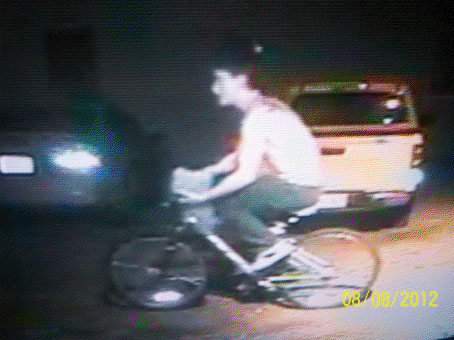 State police are asking for the public's help in identifying this man, who is suspected of stealing two bicycles from Milford homes on Wednesday, Aug. 8, 2012.