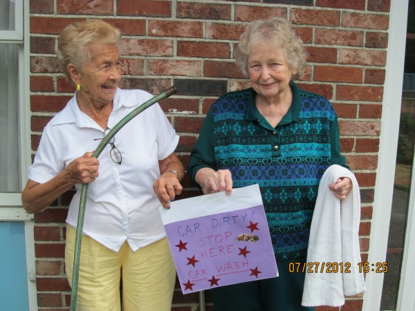 Florence Bears, 95, of Orrington and Aggie Campbell, 79, of Winterport will participate in a car wash and bottle drive 1-3 p.m. Wednesday, Aug. 15, at Westgate Manor to raise funds for the Adult Day Care Program at Westgate Manor in Bangor.