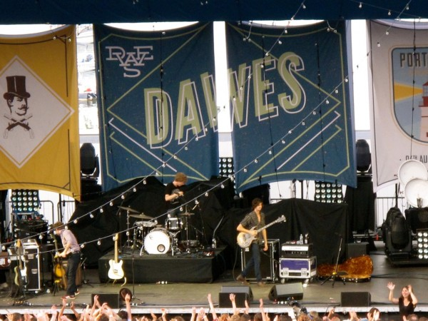 The group Dawes on the main stage.