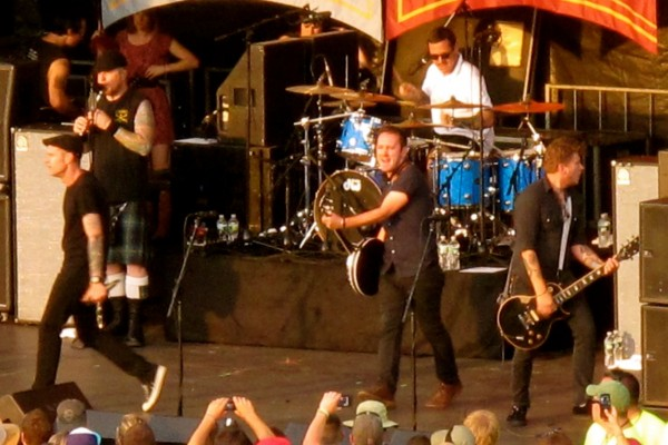 The group Dropkick Murphys on the second stage.
