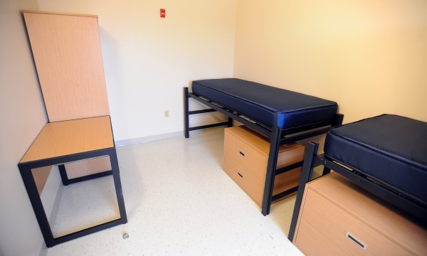 One of the rooms at Husson University's new Living and Learning Center on the university campus.