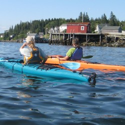 See the Port Clyde shoreline from a kayak on Sept. 8th