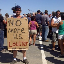 Canadian judge grants injunction against protesters blocking delivery of Maine lobsters