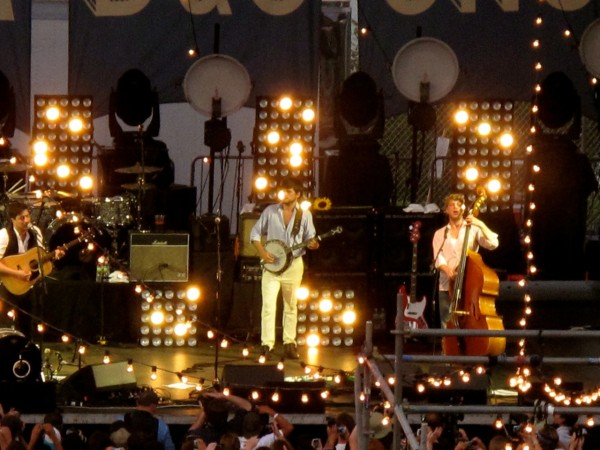Mumford & Son on the main stage