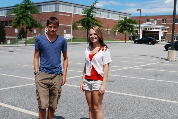 Scarborough seniors Jack Sullivan and Katie Elliott will lead petition drives on Aug. 14 and 15 against proposed student parking fees at the school.