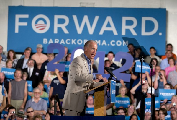Vice President Joe Biden speaks during a campaign event at West York Area High School, Sunday, Sept. 2, 2012, in York, Pa.