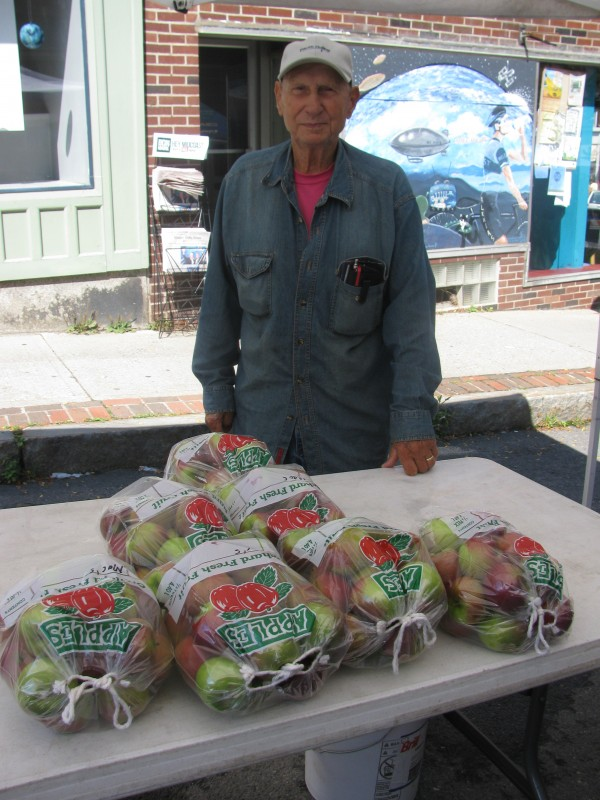 Delmar Levesque of Mildel Farm in Plymouth said that he has lost nearly all of his apple crop this fall due to abnormal spring weather. In a usual season, the 80-year-old farmer will pick 1,500-2,000 bushels, but expects to get a tiny fraction of that this year.