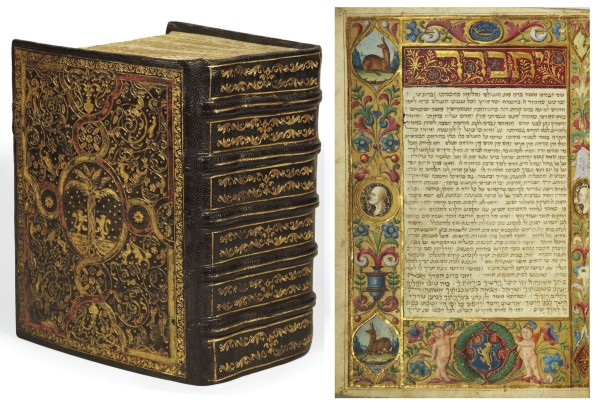 The Tuscan prayer book in Hebrew, circa 1490s, sold for $2.4 million at Christie's Paris this year.