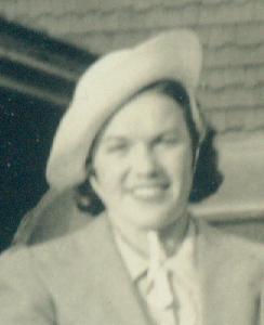 Ardeana Hamlin's mother Ruth Herrick Hamlin in a hat she acquired in 1940.