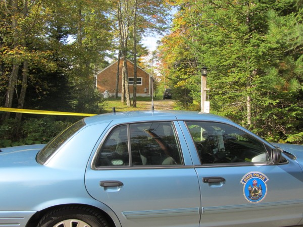 A Maine State Police trooper was stationed Friday morning, Sept. 28, 2012 outside the 40 Far Meadow Lane home of Richard Mills in Cushing.