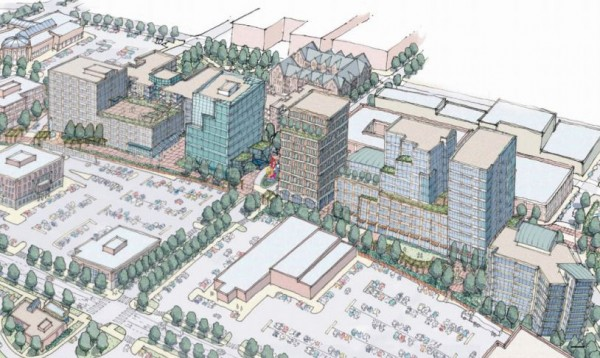 This drawing, distributed in a promotional brochure posted on The Federated Companies website, shows a draft version of how the development firm's proposed Maritime Landing project in Portland's Bayside neighborhood might appear when complete.