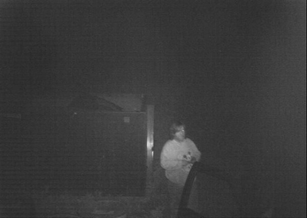 Ellsworth Police Detective Dotty Small says this video surveillance still shows Michael W. Frye, 50, of Gouldsboro, at a Coldwell Diesel dumpster. Police say Frye stole $200 worth of scrap metal. Frye was issued a summons on Wednesday, Sept. 12, for Class E theft.