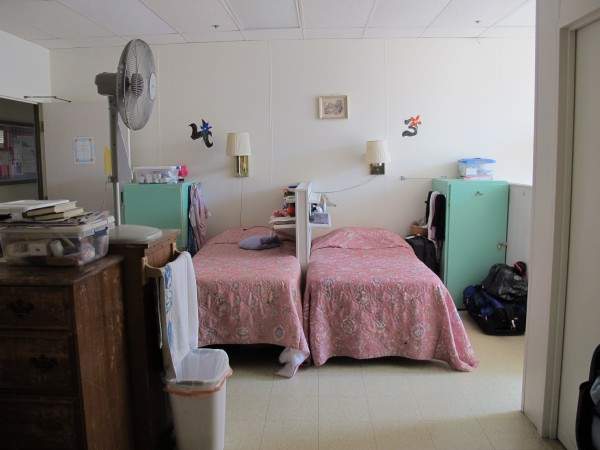 The women's dormitory at the Emmaus Homeless Shelter in downtown Ellsworth.
