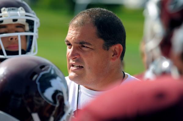 MCI football head coach Tom Bertrand.