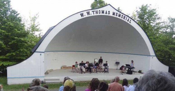 The New Sweden school band recently performed a spring concert at the iconic Thomas Park Music Bowl in New Sweden. To repair and keep the historic amphitheater in shape for all future events, Thomas Park Committee members are hoping to raise between $10,000 and $15,000.