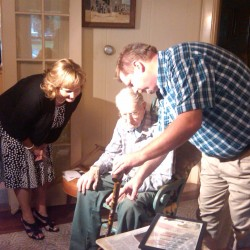 Greenville's Oldest Resident receives Boston Post Cane