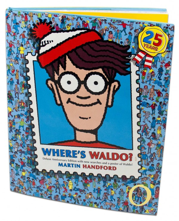 This is the jacket cover of &quotWhere's Waldo? Deluxe Anniversary Edition,&quot by Martin Hanford.
