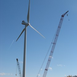 Towers, blades due in port for wind farm near Ellsworth