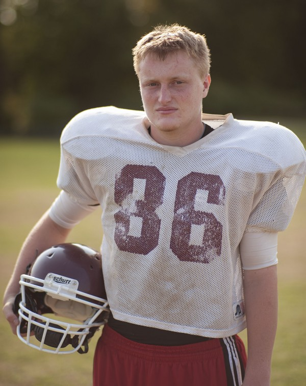 Nokomis football player Jake Winslow.