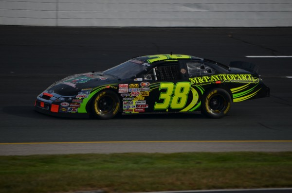 Austin Theriault of Fort Kent turns a lap in NASCAR K&N Pro Series East practice at New Hampshire Motor Speedway in Loudon, N.H. Theriault won the Maine Young Guns competition through Mainely Motorsports TV. Go Green Racing, based in Old Orchard Beach, provided the car.