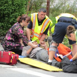 Rockland man slightly injured when hit by car