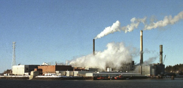 The paper mill in Bucksport, Maine, in 2000.