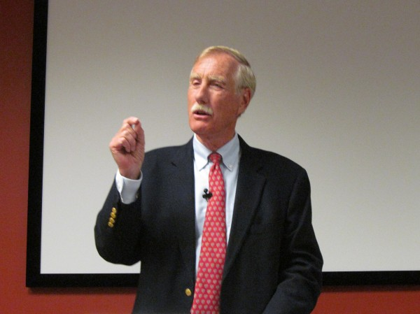 Independent U.S. Senate candidate and former Maine Gov. Angus King takes part in a debate in South Portland on Sept. 12, 2012.