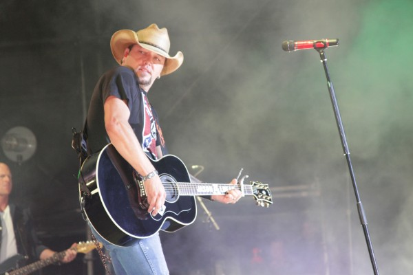 Country singer Jason Aldean plays to a packed crowd Sunday night, Sept. 2, 2012, on the Bangor Waterfront.