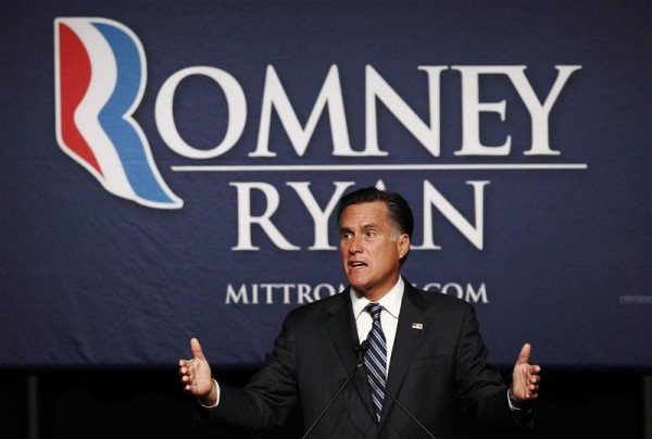 U.S. Republican presidential nominee and former Massachusetts Governor Mitt Romney speaks at a campaign fundraiser in Salt Lake City, Utah September 18.
