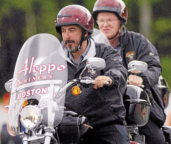 Members of the motorcycle unit from Aleppo Shrine in Boston competed against similar Shrine units at Freedom Park in Hermon on Saturday, Sept. 15.