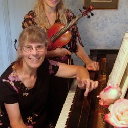 Margery Aumann and Susan Ramsey of Highlands Classical