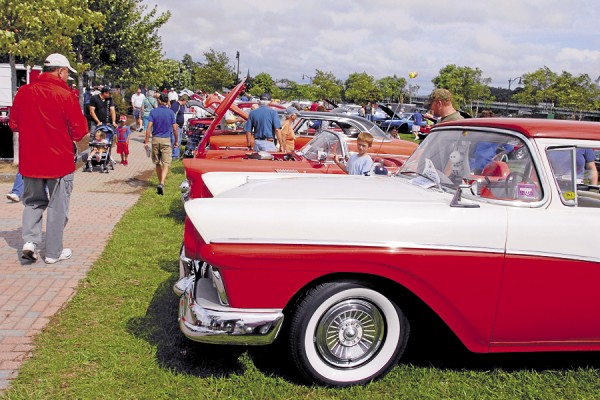 Held in Bangor Saturday, Sept. 8, the Wheels on the Waterfront car show drew automotive fans and visitors alike to check out the many antique, classic, and contemporary vehicles on display at Bangor Waterfront Park.