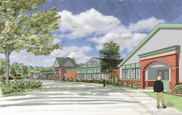 Concept drawing of the proposed remodeling of Brewer High School