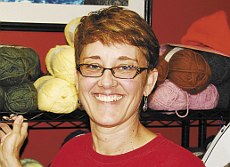 &quotThe sweater I just finished.&quot — Jill Fiore, knitting for 1 year.